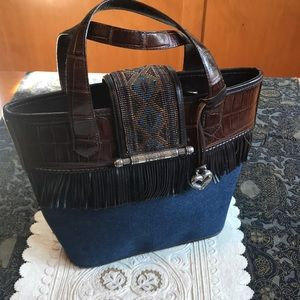 Brighton Handbag- Limited Edition, Leather &Denim